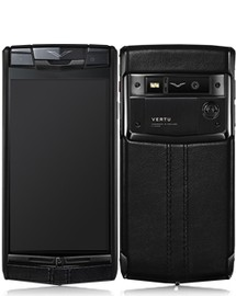 VERTU SIGNATURE TOUCH PURE BLACK JET CALF