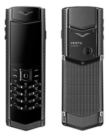 VERTU SIGNATURE S DESIGN CLOUS DE PARIS BLACK (РУЧНАЯ СБОРКА)