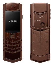 VERTU SIGNATURE S DESIGN DARK CALF CHOCOLATE (РУЧНАЯ СБОРКА)