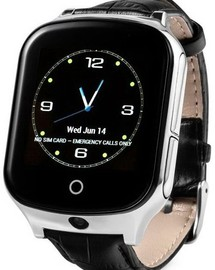 Smart Watch T100 (GW1000S, A19) Black Leather