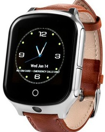 Smart Watch T100 (GW1000S, A19) Brown Leather