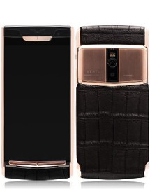 Vertu Signature Touch New Pure Jet Gold Alligator